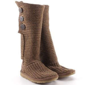 UGG Brown Classic Cardy Boots